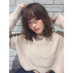 ゆるふわ 秋 ミディアム おフェロ ヘアスタイルや髪型の写真・画像
