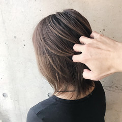 3Dハイライト 大人ハイライト ハイライト ナチュラル ヘアスタイルや髪型の写真・画像