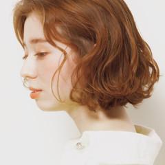 外ハネボブ ボブ デジタルパーマ モード ヘアスタイルや髪型の写真・画像