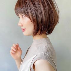 アンニュイほつれヘア ボブ ショートボブ アウトドア ヘアスタイルや髪型の写真・画像