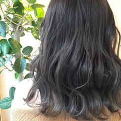 カジュアル ラベンダーグレージュ ミディアム ストリート ヘアスタイルや髪型の写真・画像