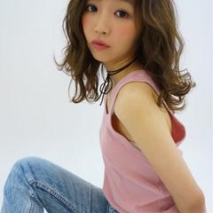 ハイライト ピュア パーマ ガーリー ヘアスタイルや髪型の写真・画像