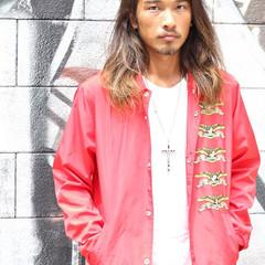 外国人風 ストリート ナチュラル ロング ヘアスタイルや髪型の写真・画像