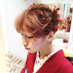 ハイトーン ピンク レッド ボブ ヘアスタイルや髪型の写真・画像