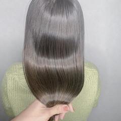 ナチュラル 髪質改善カラー ロング デート ヘアスタイルや髪型の写真・画像
