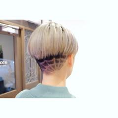 モード 坊主 ブリーチ ショート ヘアスタイルや髪型の写真・画像