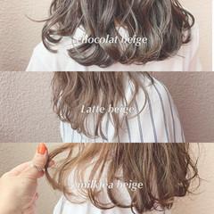 ブリーチなし 大人可愛い フェミニン 透明感カラー ヘアスタイルや髪型の写真・画像