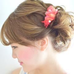 ショート 簡単ヘアアレンジ ヘアアレンジ ピュア ヘアスタイルや髪型の写真・画像