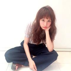 シースルーバング 前髪あり 透明感 外国人風 ヘアスタイルや髪型の写真・画像