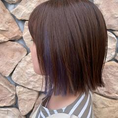 デザインカラー ストリート ミニボブ インナーカラー ヘアスタイルや髪型の写真・画像