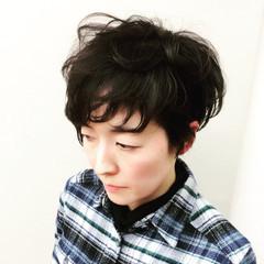 黒髪 ショート ナチュラル 大人かわいい ヘアスタイルや髪型の写真・画像