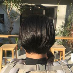 ショートボブ アッシュグレージュ ショート アッシュグレー ヘアスタイルや髪型の写真・画像
