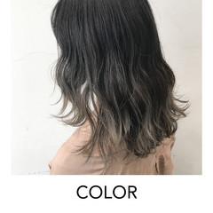 ブリーチオンカラー グラデーションカラー グラデーション ヘアアレンジ ヘアスタイルや髪型の写真・画像
