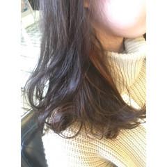 セミロング 外国人風 ガーリー ハイライト ヘアスタイルや髪型の写真・画像