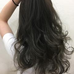 ブルージュ グレー フェミニン 暗髪 ヘアスタイルや髪型の写真・画像