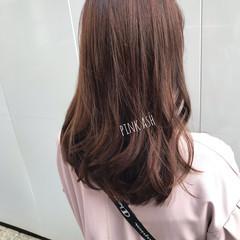 ナチュラル ピンクベージュ ショコラブラウン シナモンベージュ ヘアスタイルや髪型の写真・画像