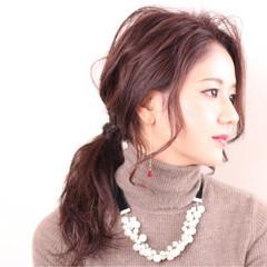 セミロング 簡単ヘアアレンジ ショート 冬 ヘアスタイルや髪型の写真・画像