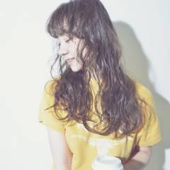ガーリー 黒髪 外国人風 ロング ヘアスタイルや髪型の写真・画像