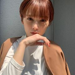 インナーカラー ナチュラル ベリーショート ショート ヘアスタイルや髪型の写真・画像