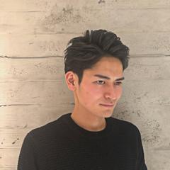 メンズパーマ メンズ ショート ツーブロック ヘアスタイルや髪型の写真・画像