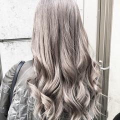 外国人風カラー ホワイトブリーチ ブリーチ 透明感カラー ヘアスタイルや髪型の写真・画像