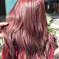 フェミニン ピンクパープル ピンクブラウン ピンク ヘアスタイルや髪型の写真・画像