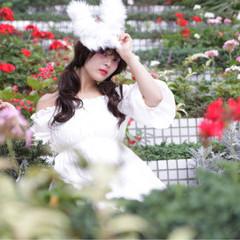 かわいい 大人かわいい フェミニン ロング ヘアスタイルや髪型の写真・画像