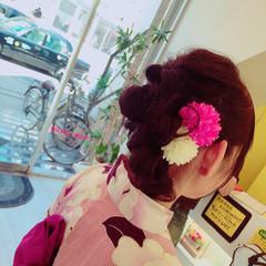 ナチュラル 着物 ヘアアレンジ ロング ヘアスタイルや髪型の写真・画像
