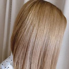 金髪 エレガント ブリーチ ミルクティーベージュ ヘアスタイルや髪型の写真・画像