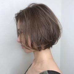 ショート ミニボブ ストリート シアーベージュ ヘアスタイルや髪型の写真・画像