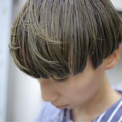 ハイライト ショート ウェットヘア マッシュ ヘアスタイルや髪型の写真・画像