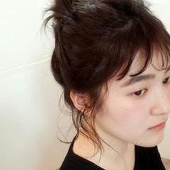 ルーズ ショート 簡単ヘアアレンジ ヘアアレンジ ヘアスタイルや髪型の写真・画像