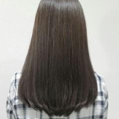 イルミナカラー 外国人風 セミロング ブルージュ ヘアスタイルや髪型の写真・画像