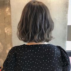女子力 暗髪 ボブ 外国人風カラー ヘアスタイルや髪型の写真・画像