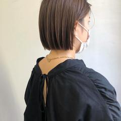 ボブ ハイライト 透明感カラー ミニボブ ヘアスタイルや髪型の写真・画像