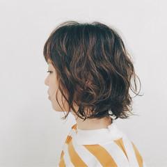 ボブ パーマ 簡単 ゆるふわ ヘアスタイルや髪型の写真・画像