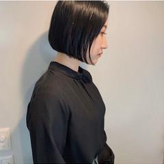 ボブ 夏 ストレート モード ヘアスタイルや髪型の写真・画像