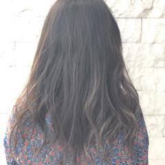 セミロング 春 透明感 ナチュラル ヘアスタイルや髪型の写真・画像