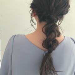 ナチュラル ヘアアレンジ 編みおろしヘア 編みおろし ヘアスタイルや髪型の写真・画像