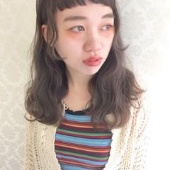 ゆるふわ 前髪あり 外国人風 セミロング ヘアスタイルや髪型の写真・画像