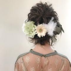 ボブ 謝恩会 ヘアアレンジ 結婚式 ヘアスタイルや髪型の写真・画像