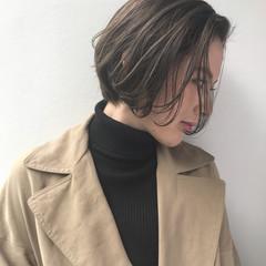 ショートボブ ナチュラル ボブ 外ハネ ヘアスタイルや髪型の写真・画像