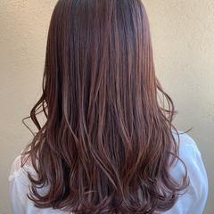 ピンクラベンダー ナチュラル ラベンダーピンク ピンクブラウン ヘアスタイルや髪型の写真・画像