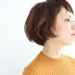 ナチュラル 似合わせ ショート モード ヘアスタイルや髪型の写真・画像