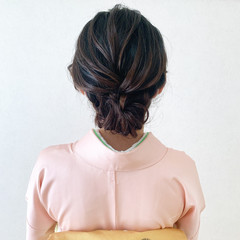 訪問着 ミディアム 結婚式ヘアアレンジ 着物 ヘアスタイルや髪型の写真・画像