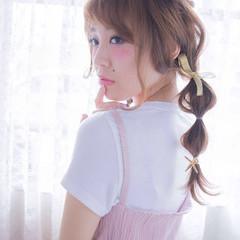 大人かわいい ショート セミロング 編み込み ヘアスタイルや髪型の写真・画像