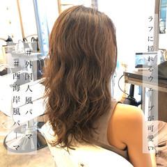 エアウェーブ ゆるウェーブ ゆるふわパーマ ナチュラル ヘアスタイルや髪型の写真・画像