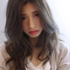 外国人風 アッシュ ロング 黒髪 ヘアスタイルや髪型の写真・画像