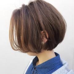 色気 ショート ナチュラル ショートボブ ヘアスタイルや髪型の写真・画像