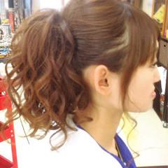 ポニーテール ヘアアレンジ ロング エクステ ヘアスタイルや髪型の写真・画像